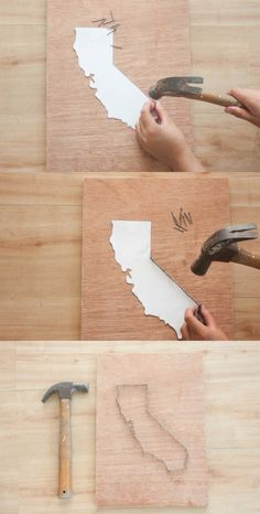 DIY String Art Projects | Wall Art Ideas by DIY Ready at http://diyready.com/diy-crafts-string-art-tutorial