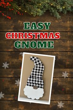 Make this easy Christmas Gnome using an inexpensive Santa wall hanging. Christmas Gnome, Christmas Crafts, Christmas Decorations, Christmas Ornaments, Christmas Ideas, Merry Christmas, Easy Halloween, Holiday Gifts, Holiday Ideas