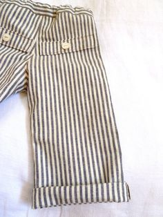 organic striped baby pants
