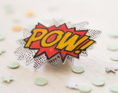 POW! // Two layers // Comic Book Sounds Brooch!!