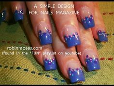 EASY NAIL ART FOR BEGINNERS: dots 508 blue pink teal evil client   #Nailart  Like,Repin Share :)