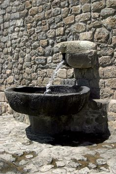 Old stone fountain