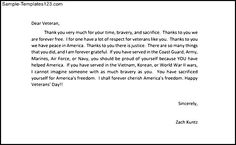 Thank You Letters To Veterans Example | Sample Templates