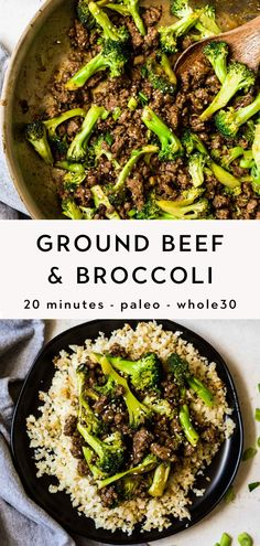 This Stir Fry Ground Beef and Broccoli recipe is easy to make in under 20 minutes, and packed with delicous sweet sesame garlic flavor. Ground Beef Stir Fry, Ground Beef Recipes For Dinner, Healthy Ground Beef, Dinner With Ground Beef, Dinner Recipes, Whole30 Ground Beef Recipes, Ground Beef With Rice, Recepies With Ground Beef, Best Ground Beef Recipes