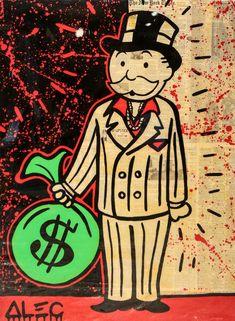 Alec Monopoly - Art Collections Page - Eden Fine Art Gallery Graffiti Art, Art Banksy, Monopoly Man, Pop Culture Art, Dope Art, Canvas Poster, The Villain, Fine Art Gallery, Large Wall Art