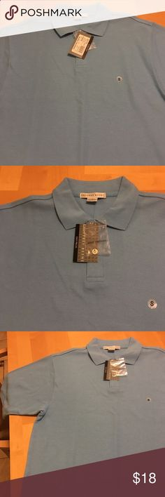 Golf Shirts - Mens light blue Polo style golf shirt NWT. GEOFFREY BEENE. Beautiful baby blue Polo style golf shirt. Geoffrey Beene Shirts Polos