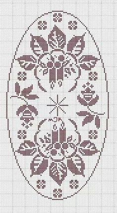Schemi gratis da realizzare a Filet Punto Croce Maglia Uncinetto e Ricamo Filet Crochet Charts, Crochet Motif, Crochet Doilies, Knit Crochet, Crochet Table Runner Pattern, Crochet Tablecloth, Xmas Cross Stitch, Cross Stitch Cards, Christmas Crochet Patterns