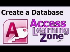 Create a Database in Microsoft Access 2013 for Beginners - YouTube