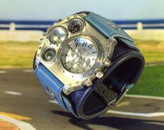 Mens wrist watch bracelet Safari Steampunk Watches SALE by dganin