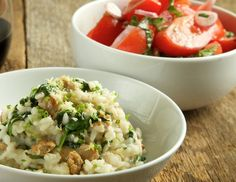 Turkey Sausage and Spinach Risotto by Kristina Kuzmic. Crowd pleaser.