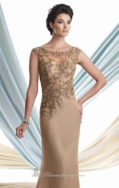 Beaded Appliqued Gown by Mon Cheri Montage 113920