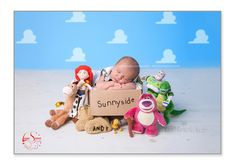 Toy Story Inspired Photo. Newborn Photography by Laura Spence Photography. really LOVE this set up