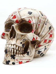 """""""Poker"""" Skull by Pacific Trading"""