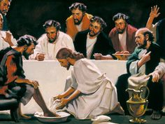 Jesus washed the feet of his disciples, and example of humility.