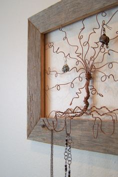 Tree Frame Art Windswept Willow  Reclaimed Barn by milliemoments, $58.00