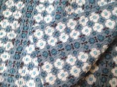 Destash Cotton textured fabric Retro flowers by theowlsarehunting Cotton Texture, Retro Flowers, Floral Tie, Fabric, Fashion, Tejido, Moda, Tela, La Mode