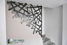 Les Ateliers Brice Bayer - Architecture d'intérieur- garde corps en acier, barrière d'escalier, cloison industrielle