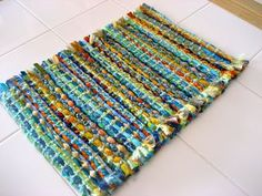 """3"""" fabric strips woven along with specialty yarns"""