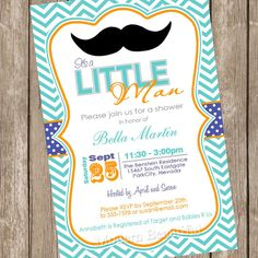 Super hero baby shower invitation by rachellesinvites on etsy chevron mustache baby shower invitation moustache little man invitation teal blue orange filmwisefo Image collections