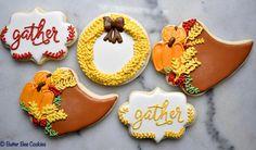 Items similar to Custom Thanksgiving Cornucopia Sugar Cookies on Etsy Cookie Decorating, Decorating Ideas, Thanksgiving Cornucopia, Fall Baking, Baking Ideas, Sugar Cookies, Frosting, Fancy, Autumn