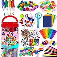 FunzBo Arts and Crafts Supplies Jar for Kids - Craft Art Supply Kit voor peuters Kids Crafts, Crafts For Kids To Make, Christmas Crafts For Kids, Christmas Wreaths, Christmas Bark, Daycare Crafts, Wreath Crafts, Tree Crafts, Cadeau Parents
