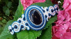 Bratara soutache piatra lunii Soutache Jewelry