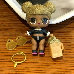 LOL Surprise Doll Series 1 Queen Bee doll with Random dress shoes Bottle