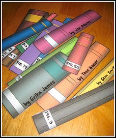 Printable book spines--use for books of the Bible scramble...