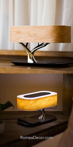 Get your Tree Lamp now at RomeaDecor.com Tree Lamp, Bedside Table Lamps, Light Of Life, Tree Lighting, Art Pieces, Wood, Side Table Lamps, Woodwind Instrument, Artworks