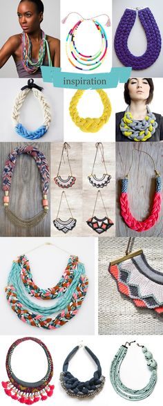 Frou-Frou : Le site d'inspirations et de DIY Textile Jewelry, Fabric Jewelry, Wire Jewelry, Jewelry Crafts, Beaded Jewelry, Jewelery, African Accessories, Handmade Accessories, Fashion Accessories