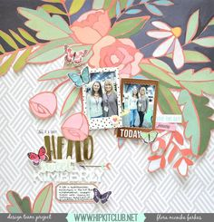 Designer @floramfarkas was lucky enough to meet Kimberly the chief of @hipkitclub at the recent CHA convention! Flora created this beautiful layout to honor the meeting using the #january2017 #hipkits!  #hipkitclub #hipkitexclusives #hkcexclusives #exclusives #papercrafting #fussycutting #floral @onecanoetwo #hazelwood @americancrafts #kitclub #scrapbookingkitclub