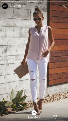 Evora Button Down Tank - Blush Business Casual Outfits, Dressy Outfits, Chic Outfits, New Outfits, Fashion Outfits, Womens Fashion, Fashion Trends, Black Outfits, Summer Weekend Outfit