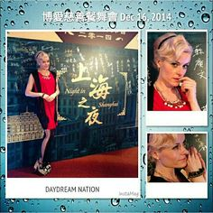 Thk u for inviting me to sing on Dec 16th 2014 at 博愛慈善餐舞會 - 上海之夜! Thk u DayDream Nation for this classy dress and accessories and Match Tong @ HAiR for this classic hairstyle to match!