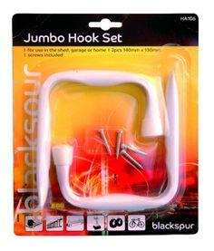 2 Pack Heavy Duty Jumbo Hook Set Bike Ladder Garage Shed Rack Hanger Tool Hangers, Garage Shed, Things To Buy, Ladder, Packing, Bike, Wall Hooks, Ebay, Furniture