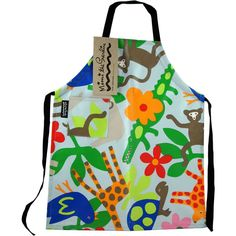 Child's Apron from Mimi the Sardine JUNGLE ( formaldehyde-free) 2 to 6 years $17