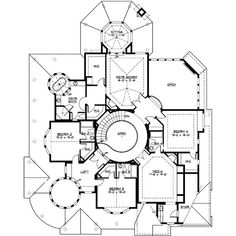 First Floor Plan of European House Plan   down size house     nd level Modern Victorian Style house plan awesome  Perfect