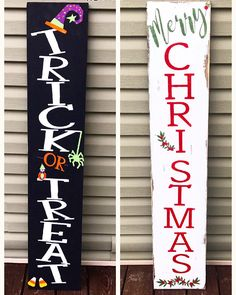 Reversible porch sign harvest porch sign merry Christmas