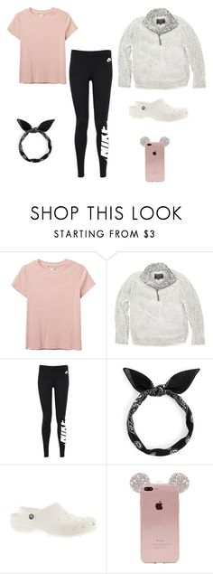 """""""school outfits"""" by beske-mckenzie on Polyvore featuring Monki, True Grit, NIKE and Crocs"""