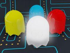 Retro Lighting : Pac Man Ghost Lamps by Anderson Horta Pac Man, Retro Arcade, Ideas Hogar, Retro Lighting, Party Lighting, Gaming, Nightlights, Machine Design, Lamp Design
