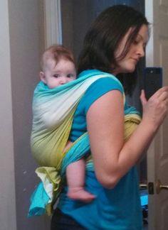 DIY Baby wrap with grad dye.