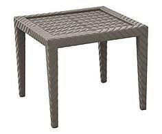 Tavolino in alluminio e polietilene Marta grigio - 60x60x51 cm