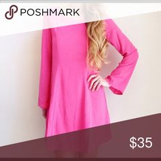 Pink Shift Dress Reposh! Love it but haven't had anywhere to wear it. Brand new with tags pink shift dress. Dresses