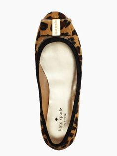 Kate Spade Leopard Bow Flats