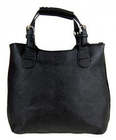Módní shopper kabelka do ruky 3036 černá - Kliknutím zobrazíte detail obrázku.