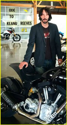 #keanureeves, #archmotorcycle, #ARCH, Keanu is posing in the showroom of his company arch motorcycle