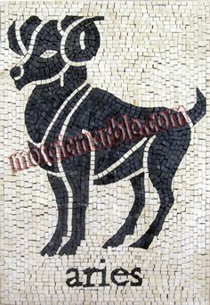 Mosaics - Other Themes - Horoscopes - Mosaic) Zodiac Horoscope, Horoscopes, Astrology, Aries Taurus Cusp, Mosaic Patterns, Mosaic Art, Les Oeuvres, Hand Embroidery, Zodiac Signs