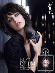model in the yves saint laurent black opium ad...Love her hair!