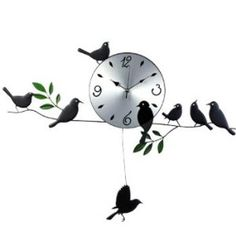 kilofly Metal Bird Pendulum Wall Clock The Rustic Clock Wall Clock Price, Wall Clock Online, Best Wall Clocks, Rustic Wall Clocks, Clock Wall, Living Room Clocks, Pendulum Wall Clock, Wall Clock Design, Facades
