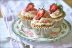 Strawberry Basil Cupcakes