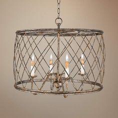 Quoizel Dury Century Silver Pendant Chandelier - #R9719 | Lamps Plus